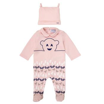 Clothing Girl Sleepsuits Emporio Armani 6HHV08-4J3IZ-0355 Pink