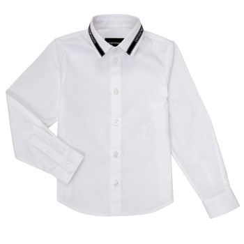 Clothing Boy Long-sleeved shirts Emporio Armani 6H4CA6-1NXYZ-0100 White