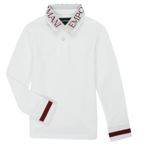 Clothing Boy Long-sleeved polo shirts Emporio Armani 6H4FJ4-1J0SZ-0101 White