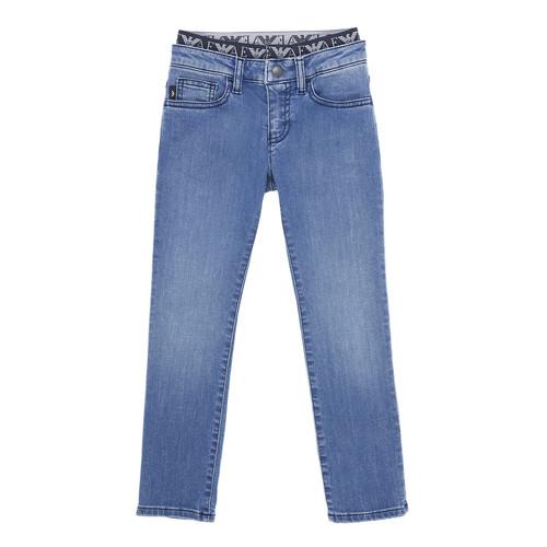 Clothing Boy Slim jeans Emporio Armani 6H4J17-4D29Z-0942 Blue