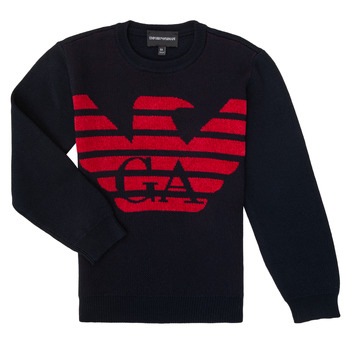 Clothing Boy Jumpers Emporio Armani 6H4MTL-1MDDZ-F934 Marine