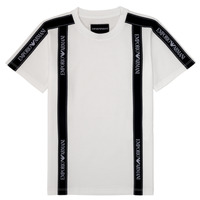 Clothing Boy Short-sleeved t-shirts Emporio Armani 6H4TG4-1JTUZ-0101 White
