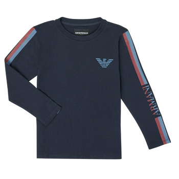 Clothing Boy Long sleeved tee-shirts Emporio Armani 6H4TJD-1J00Z-0920 Marine