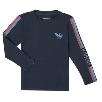 Clothing Boy Long sleeved tee-shirts Emporio Armani 6H4TJD-1J00Z-0920 Marine