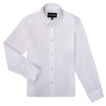 Clothing Boy Long-sleeved shirts Emporio Armani 8N4CJ0-1N06Z-0100 White