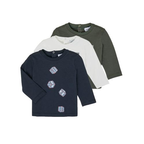 Clothing Boy Long sleeved tee-shirts Emporio Armani 6HHD21-4J09Z-0564 Multicolour