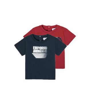 Clothing Boy Short-sleeved t-shirts Emporio Armani 6HHD22-4J09Z-0353 Multicolour
