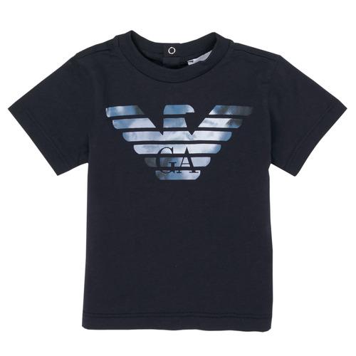Clothing Boy Short-sleeved t-shirts Emporio Armani 6HHTA9-1JDXZ-0920 Marine