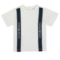 Clothing Boy Short-sleeved t-shirts Emporio Armani 6HHTG4-1JTUZ-0101 White