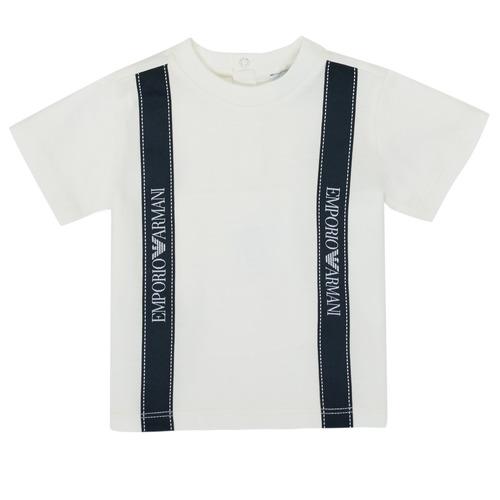 Clothing Boy Short-sleeved t-shirts Emporio Armani 6HHTG4-1JTUZ-0101 White