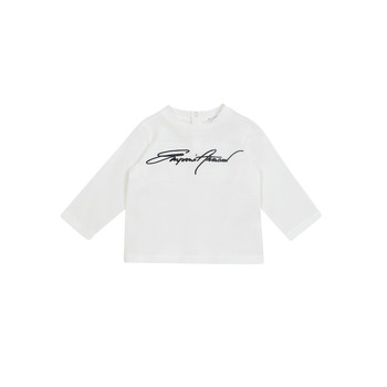 Clothing Boy Long sleeved tee-shirts Emporio Armani 6HHTJN-1JTUZ-0101 White