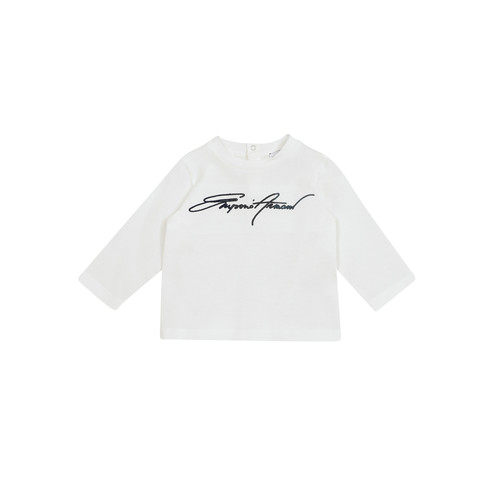 Clothing Boy Long sleeved tee-shirts Emporio Armani 6HHTJN-1JTUZ-0101 White