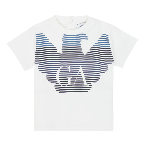 Clothing Boy Short-sleeved t-shirts Emporio Armani 6HHTQ7-1J00Z-0101 White