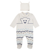 Clothing Boy Sleepsuits Emporio Armani 6HHV08-4J3IZ-0101 White / Blue