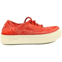 Shoes Women Low top trainers Natural World Basket Platform Rouge 652-6112E Red