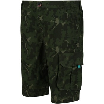 Clothing Children Shorts / Bermudas Regatta Shorewalk Coolweave Cargo Shorts Green Green
