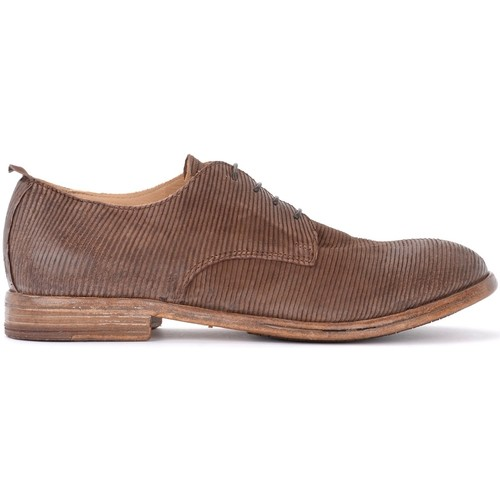 Shoes Men Derby Shoes & Brogues Moma Tocai brown lace-up shoe in laser-cut leather Brown