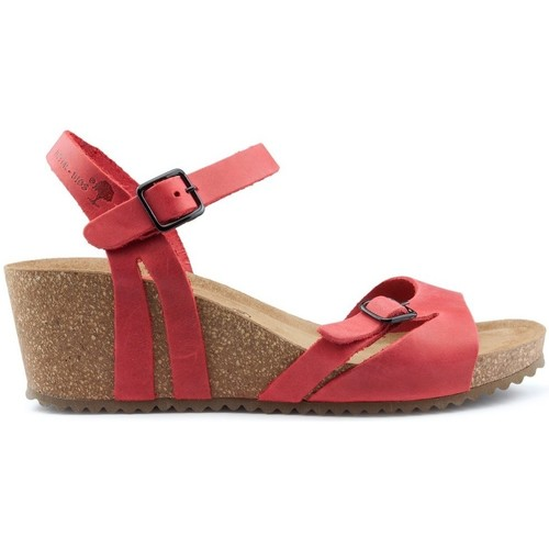 Shoes Women Sandals Interbios W comfortable wedge sandals RED