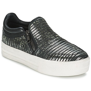 Shoes Women Slip ons Ash JORDY Grey / Metallic