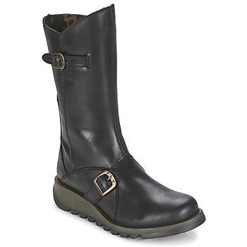Shoes Women Mid boots Fly London MES 2  BLACK