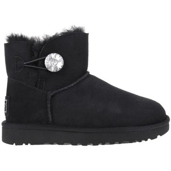 Shoes Women Snow boots UGG Mini Bailey Button Bling Black
