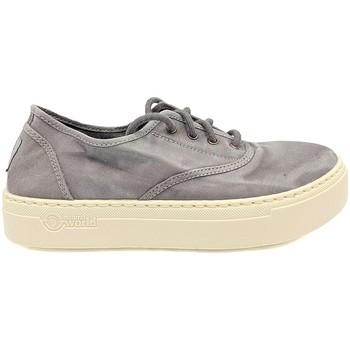 Shoes Women Low top trainers Natural World Basket Platform Grise 623-6112E Grey