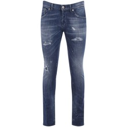 Clothing Men Slim jeans Dondup Ritchie model jeans with blue wash with rips Blue