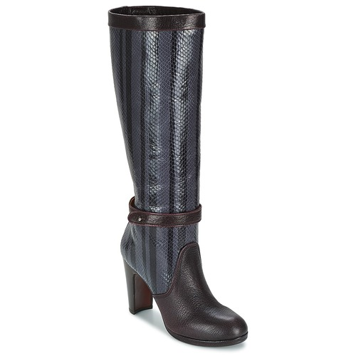 Shoes Women High boots Chie Mihara NERVE Aubergine