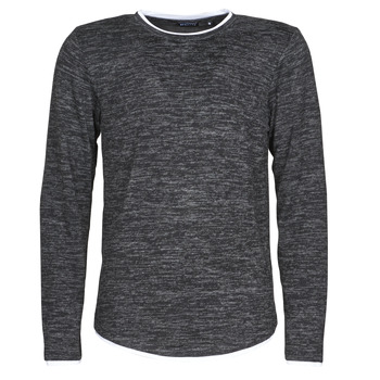 Clothing Men Long sleeved tee-shirts Deeluxe MOHANSON Grey / Dark