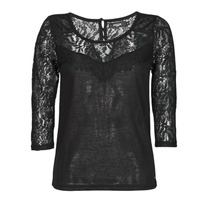 Clothing Women Long sleeved tee-shirts Deeluxe SANDY Black