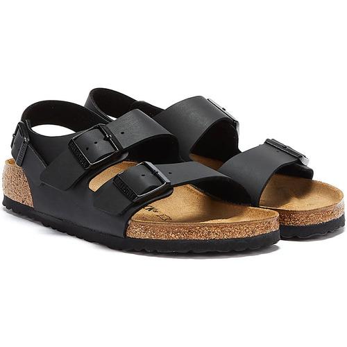 Shoes Sandals Birkenstock Milano Birko Flor Black Sandals Black
