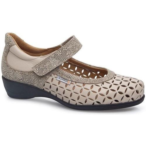 """Shoes Women Flat shoes Calzamedi SQUARE WOMEN """"S LETINAS BEIGE"""