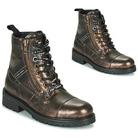 Shoes Women Mid boots Pepe jeans MELTING TAPE Bronze