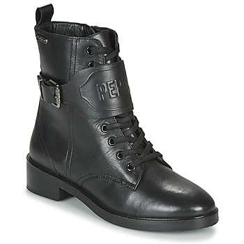 Shoes Women Mid boots Pepe jeans MALDON LOGO Black