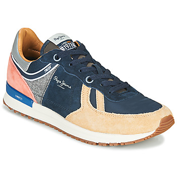 Shoes Men Low top trainers Pepe jeans TINKER PRO 73 Marine / Brown