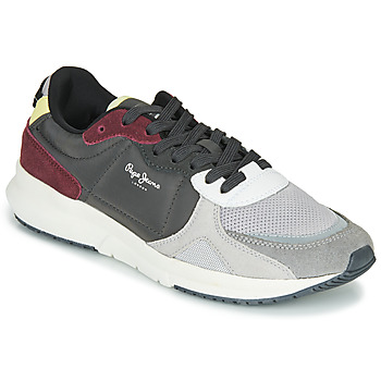 Shoes Men Low top trainers Pepe jeans PARK AIR SPORT Grey / Bordeaux