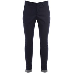 Clothing Men Formal trousers Dondup Gaubert blue trousers made of technical cotton Blue