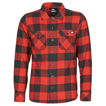 Clothing Men Long-sleeved shirts Dickies SACRAMENTO Red / Black