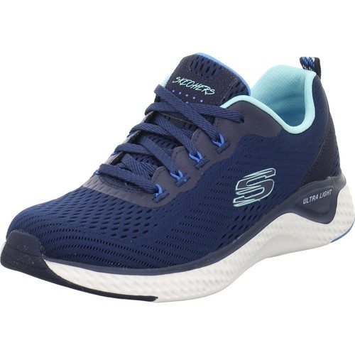 Shoes Women Low top trainers Skechers Cosmic View White,Blue,Navy blue
