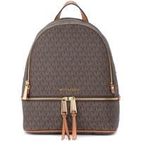 Bags Women Rucksacks MICHAEL Michael Kors backpack in brown logoed fabric Brown