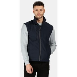 Clothing Men Jackets / Cardigans Professional Honestly Made Recycled Printable Softshell Bodywarmer Blue Blue