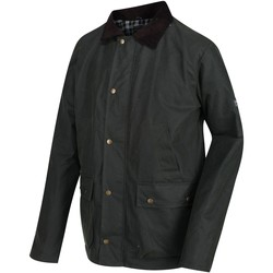 Clothing Men Parkas Regatta COUNTRY Wax Jacket Black Green Green