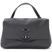 Bags Women Shoulder bags Zanellato Pure S Postel  bag in hammered black leather Black