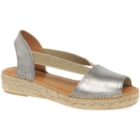 Shoes Women Sandals Toni Pons Etna Womens Casual Platform Wedge Espadrilles Silver