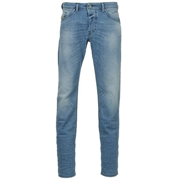 Clothing Men straight jeans Diesel BELHER Blue / Clear
