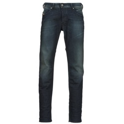 Clothing Men straight jeans Diesel BELHER Blue / Dark