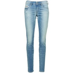 Clothing Women slim jeans Diesel FRANCY Blue / Clear