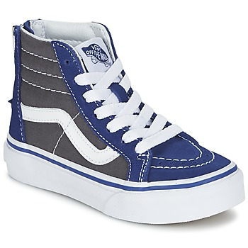 Shoes Children Hi top trainers Vans SK8-Hi Zip Grey / Blue