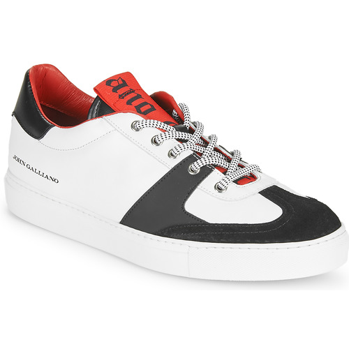 Shoes Men Low top trainers John Galliano 3565 White / Black / Red
