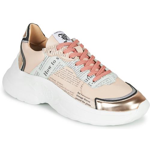 Shoes Women Low top trainers John Galliano 3645 Pink